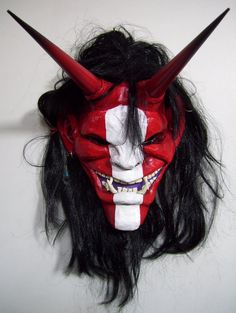Oni Mask Red by mostlymade on deviantART