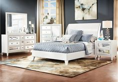 Like the mirrored night stand and dresser