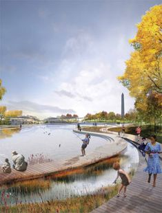 National Mall Design Competition Will Be Fierce Parque Linear, Plan Maestro, Landscape Architecture Design, Landscape Architects, Architecture Jobs, Classical Architecture, Ancient Architecture, Sustainable Architecture, Wetland Park