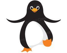 Dancing Penguin Clipart | Arctic Bird Clip Art | Commercial Use | $1.95 | Shanna Riehl Art Shoppe