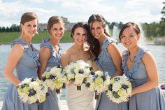 Light Blue, Light Green & Gold Summer Wedding via http://www.weddingcolors.net/light-blue-light-green-gold-summer-weddingdaphne-thomas.html | Photo by:  feelsliketodayphotography.com