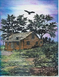 Cabin on the hill by Karen Wallace - Cards and Paper Crafts at Splitcoaststampers