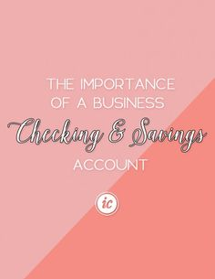 Sharing the importance of small business owners having a business account for finances. | Imperfect Concepts #finances #blogging #smallbusiness