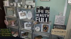 Some more of our lovely frames and signs on display