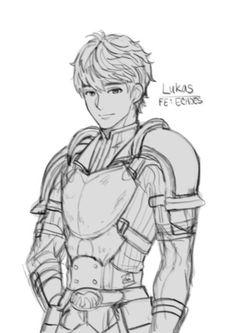 I doodled the three musketeers of FE Echoes: aka Forsyth, Lukas, and Python~~ I haven't meet the blue or green bois yet~