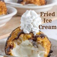 温かいのに冷たい!?フライドアイスクリームのレシピ♡