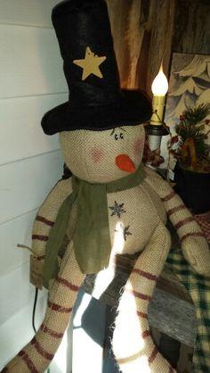 Burlap snowman