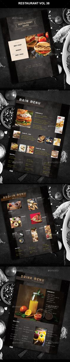 Restaurant Menu vol 38 — Photoshop PSD #corporate #identity • Download ➝ https://graphicriver.net/item/restaurant-menu-vol-38/21626925?ref=pxcr