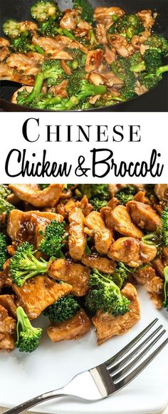 This recipe for Chinese Chicken & Broccoli in a brown sauce is quick, easy, and on the table in just 30 minutes. via Kitchen Chinese Chicken & Broccoli Telll♡ TelllaaChubbyy This recipe for Chinese Chicken & Broccoli in a brown sauce Easy Chinese Recipes, Asian Recipes, New Recipes, Cooking Recipes, Chinese Meals, Chinese Desserts, Healthy Diet Recipes, Vegetarian Recipes, Healthy Eating