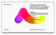 Touch. Draw. Play. – nikitanikiforov.it Made by Asketisch. | VISUALGRAPHC