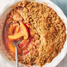 Peach Crumble - Delish.com