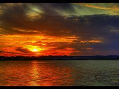 Zachód słońca nad Jeziorem Stryszawskim