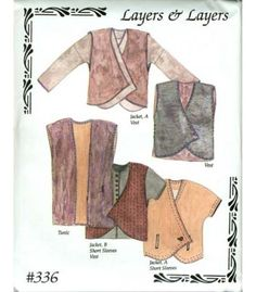 A unlined Jacket pattern with a simple vest included. All sizes included in pattern, XS to XXL. Priced per pattern. Clothing Patterns, Sewing Patterns, Sewing Designs, Blouse Patterns, Clothing Ideas, Stitch Patterns, Knitting Patterns, Jacket Pattern, Sewing Projects For Beginners