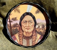 Vintage Sitting Bull Serving Tray American Indian Legend by BestofbothWorlds, $24.00