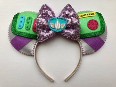 Toy Story Buzz Lightyear Inspired Inspired Mickey Ears Diy Disney Ears, Disney Mickey Ears, Mickey Mouse Ears, Disney Diy, Cute Disney, Disney Crafts, Micky Ears, Disney Stuff, Disney Headbands