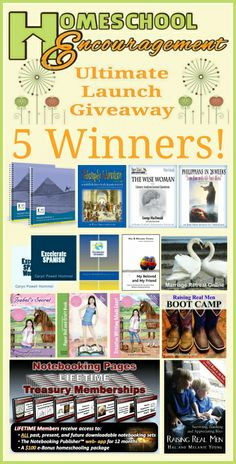 Huge #Homeschool giveaway with over $1126 in prizes and five winners altogether!  Definitely worth it.