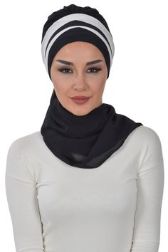 NOTE : Once you have created your order, please notify your phone number in a message. Product Information : Double Color Ready To Wear Hijab Fabric : Chiffon Size : Standard Bridal Hijab, Abaya Fashion, Chiffon, Head Wraps, Ready To Wear, Trending Outfits, How To Wear, Number, Skirt