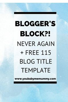 Do you suffer from blogger's block? Stuck for topics to write about? Then you need these tips to help you always have a stream of ideas. also a FREE blog post title template, so you just have to fill in the gaps!