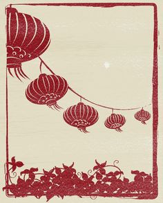 Chinese Lanterns. Summer imagery.