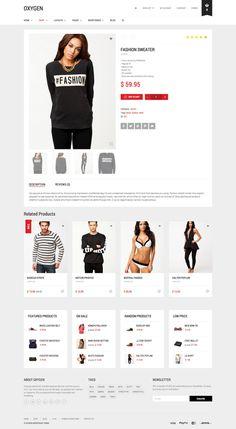 Oxygen - eCommerce Theme on Web Design Served