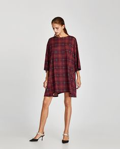 ZARA - WOMAN - OVERSIZED CHECK DRESS