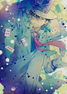 ☆k (Kuroba kaito) Magic Kaito, Cute Anime Boy, Anime Art Girl, Anime Demon, Manga Anime, Detective, Magic For Kids, Kaito Kuroba, Kaito Kid