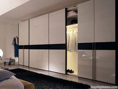 Thiết kế phòng ngủ đẹp với tủ âm tường cánh lùa