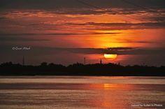 Sunset over the Nile  الغروب فوق النيل  (By Qusai Akoud)   #sudan #nile #sunset