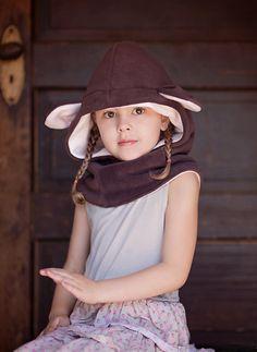 Las niñas llevan sombrero polar con capucha capucha sombrero Capuchas c7add935f46