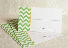 Wedding Place Cards - Chevron Place Cards - Wedding Escort Cards, Table Cards, Bridal Shower Seating Cards, Tented Cards