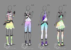 Pastel Outfit Adopts #2 - sold by Nahemii-san.deviantart.com on @deviantART