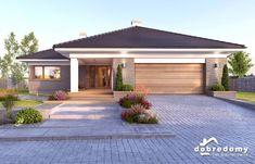Nela V - Dobre Domy Flak & Abramowicz Best House Plans, Modern House Plans, Modern House Design, Modern Bungalow House, Bungalow Homes, Architectural Design House Plans, Architecture Design, House Outside Design, Village House Design