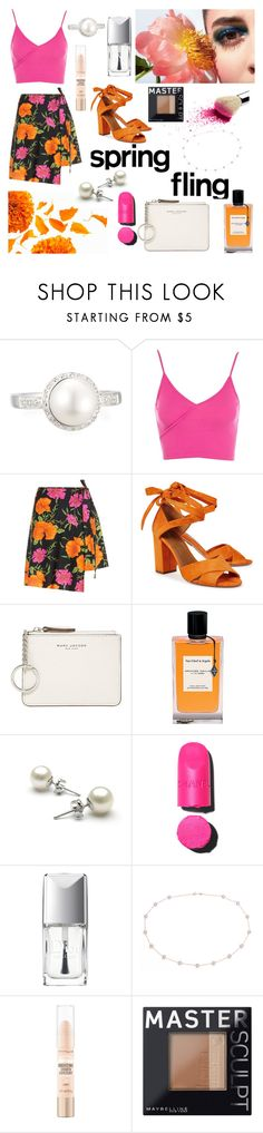 """""""Hello Spring"""" by bellafantasy03 on Polyvore featuring mode, Belpearl, Topshop, Balenciaga, Aquazzura, Marc Jacobs, Van Cleef & Arpels, Christian Dior, Blue Nile et Maybelline"""