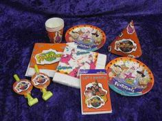 Flintstones Birthday | ... , Inc. Image 1 Flintstone s 1990 s Birthday party set, plates, na