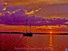 * Sunset at Long Island Sound, NY.