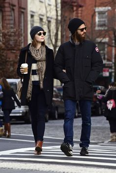 Emma At West Village in New York City With Andrew - December 30/2014