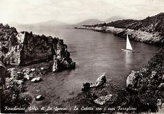 Vintage 1960s Photo Postcard B&W Fiascherino, Italy Golfe de la Spezia Sailboat