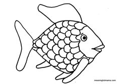 The rainbow fish template can use this for a quiet book page generosity through rainbow fish maxwellsz