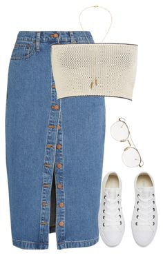 """""""8/27/16"""" by camgueyana ❤ liked on Polyvore featuring Madewell, Calvin Klein Collection, Converse, Thom Browne and Bølo"""