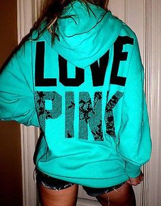 Pink by Victoria's Secret oversized fit lace graphics hoodie sweatshirt M/L