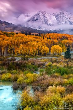 ~~A Fall Snow At Sunrise • snow clouds begin to disappear along the Kebler Pass during autumn, near Crested Butte, Colorado by kkart~~