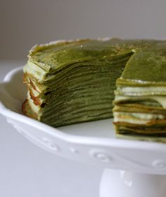 Stack Green Tea Crepes to make this cake.