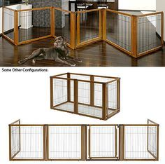 Convertible Elite Free Standing Pet Gate / Exercise Pen, 4 Panel