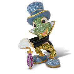Jeweled Jiminy Cricket Figurine by Arribas -- 3 H | Figurines & Keepsakes | Disney Store