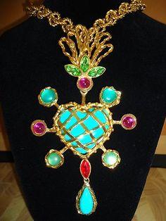 Original Vintage Christian Lacroix Necklace Pendant | eBay