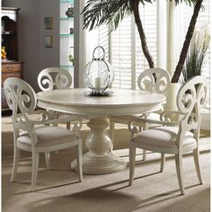 Fine Furniture Design Summer Home Round Dining Table in Shell FF-1051-810-811