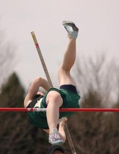 This was me the first meet I won. I almost knocked it down because I couldn't get 1 leg over, but I managed to do it.