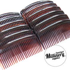 12 Large 3 3/4 Tortoise Brown Plastic Hair Combs for by squirlgirl, $16.00