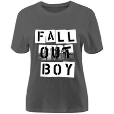 RIDA Fall Out Boy FOB Band T-shirts For Women Large DeepHeather ($24) ❤ liked on Polyvore featuring tops, shirts and shirt tops