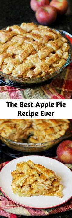Apple Pie Recipes, Apple Desserts, Fall Recipes, Just Desserts, Cookie Recipes, Delicious Desserts, Dessert Recipes, Homemade Apple Pies, Best Apple Pie